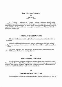 download california last will and testament form 1 for With last will and testament template california