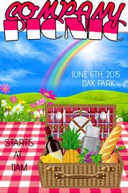 customizable design templates  family picnic postermywall