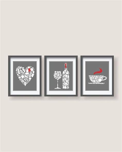 set   grey white  red accent kitchen decor  blackpelican red kitchen decor kitchen