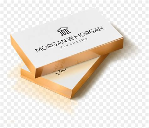 thick edge business card rectangle metallic edge