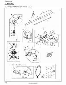 Red Max Bcz3050s 09 S  N 90200101  U0026 Up Parts Diagram For