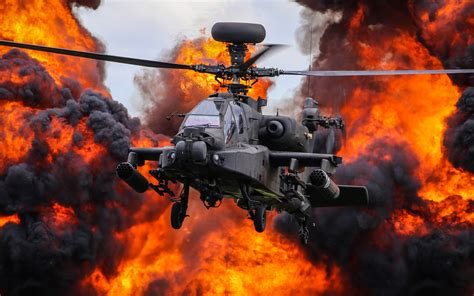 wallpaper  aircraft attack helicopter boeing ah