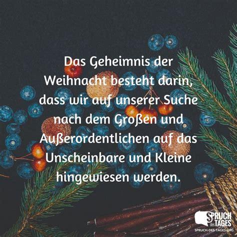 das geheimnis der weihnacht besteht darin dass wir auf