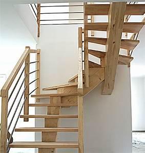 Escalier 3 4 Tournant : escaliers 2 4 tournant bois ~ Dailycaller-alerts.com Idées de Décoration