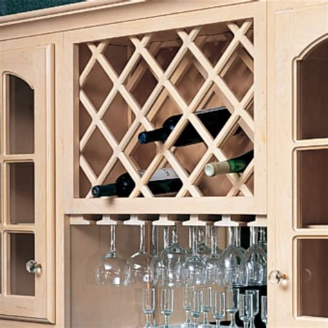 kitchen cabinet wine rack insert omega national cabinet mount wine bottle lattices deluxe 7974