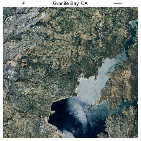 aerial photography map of granite bay ca california