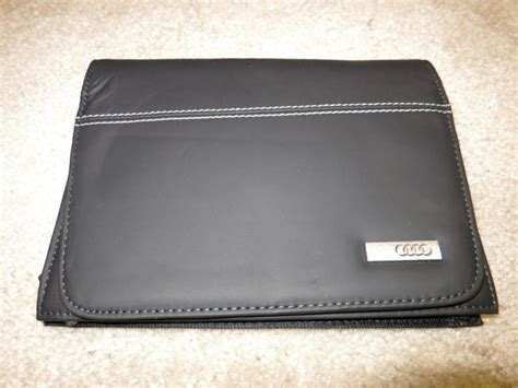 audi  oem   leather owners manual wallet