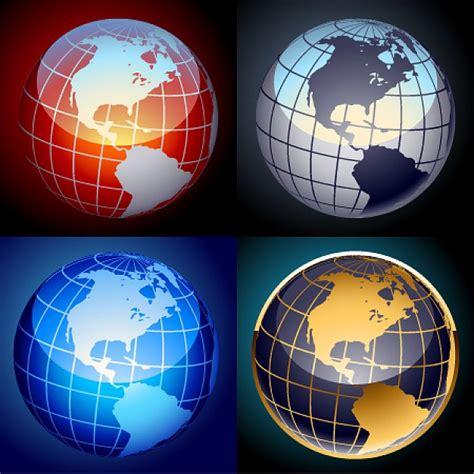 foto de Free set of vector globes Vector Free Download