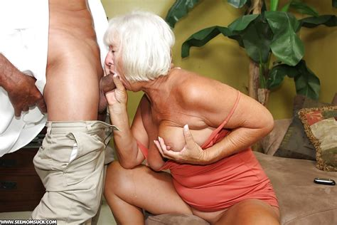 Lusty Granny Gives A Great Blowjob And Gets A Facial