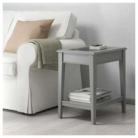 glass end tables ikea liatorp side table grey glass 57x40 cm ikea