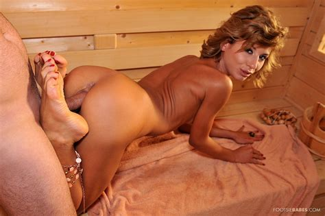 Victoria Tiffani Enjoys Hot Foot Fetish Sex In The Sauna