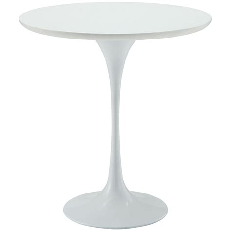 Pedestal Table Base by Lippa 20 Quot Wood Top Side Table With Aluminum Pedestal