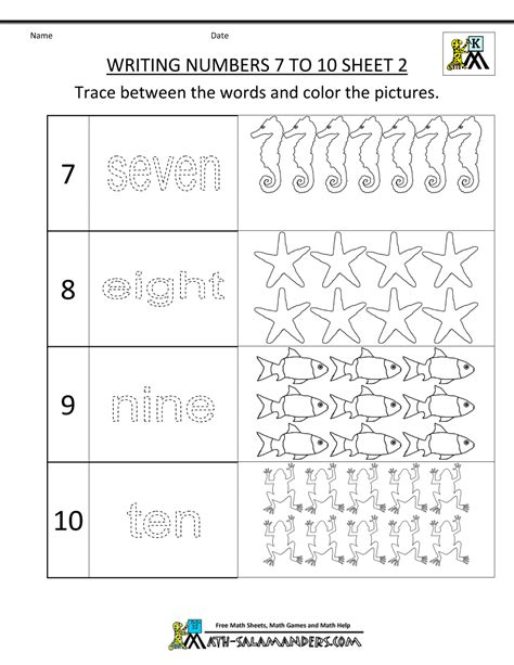 worksheet tracing numbers 1 10 worksheets kindergarten