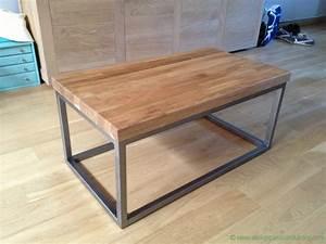 Fabriquer Une Table De Cuisine Avec Un Plan De Travail : table basse plan de travail atelier passion du bois ~ Nature-et-papiers.com Idées de Décoration