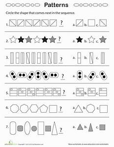 Geometric Patterns: What Comes Next? | Geometry worksheets ...