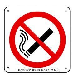 vapoter au bureau panneau défense de fumer picto avec dé stocksignes