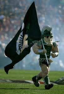 Michigan State S Party Mascot
