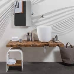 Mobile top sospeso per bagno in legno teak massello natura