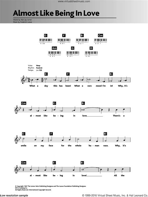 Love Chords Frank Sinatra Easy