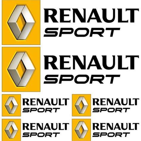 logo renault sport 6 stickers autocollants logo renault sport noir art d 233 co