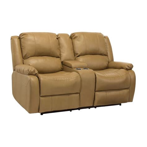 double recliner sofa with console recpro charles 67 quot double rv zero wall hugger recliner