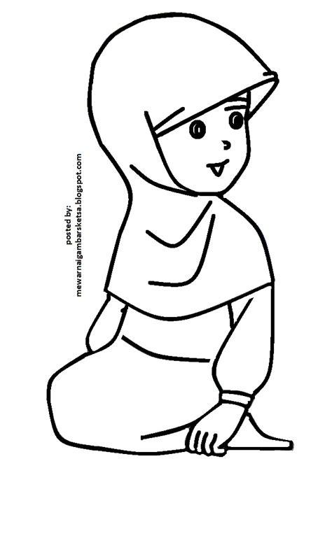 Mewarnai gambar gaya remaja keren 173 via. Mewarnai Gambar: Mewarnai Gambar Sketsa Kartun Anak Muslimah 78