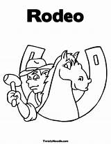 Coloring Rodeo Template Stake sketch template