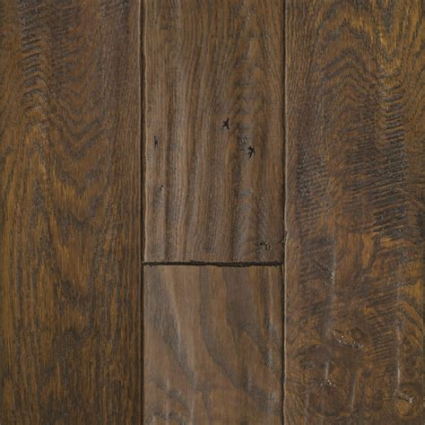 hardwood flooring prefinished shop mullican flooring chatelaine 4 in w prefinished oak hardwood flooring ebony at lowes com