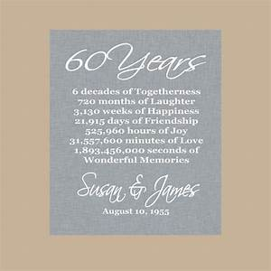 60th anniversary gift diamond anniversary personalized With 60th wedding anniversary gift ideas for parents
