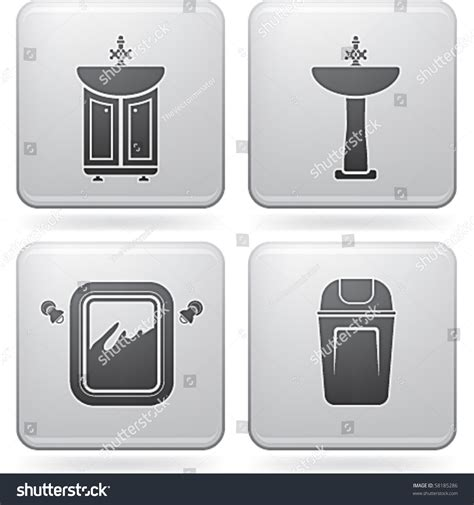 bathroom appliances stock vector  shutterstock