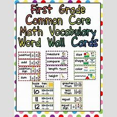First Grade Common Core Mat By Melissa Williams  Teachers Pay Teachers