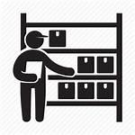 Warehouse Icon Shelf Storage Worker Box Icons
