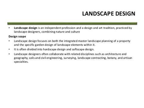 define landscape design landscape definition and meaning