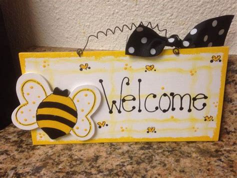 bumble bee  sign country wood crafts decor