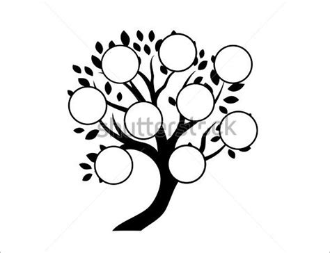 Tree Template Black And White by 11 Popular Editable Family Tree Templates Designs