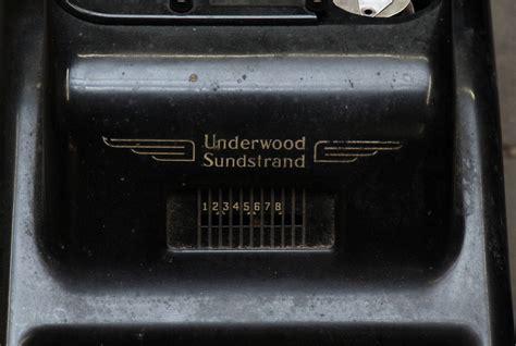 underwood sundstrand cash register  art deco