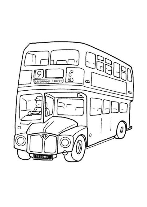 coloriage angleterre bus de londres