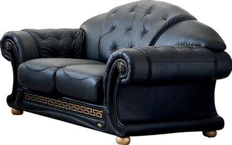 Versace Black Sofa Versace Esf Furniture Leather Sofas