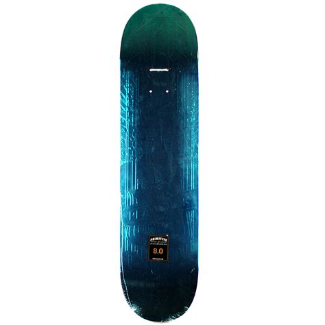 True Skate Primitive Decks by Primitive Peacock Deck Teal Foil 8 0 Forty Two