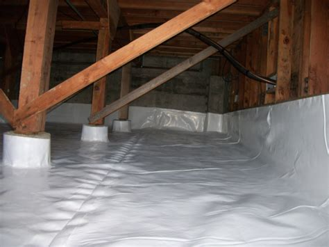 covering basement crawl space floor with plastic vapor barrier heavy duty plastic sheeting plastic sheets films tapes