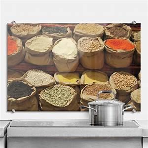 Spritzschutz Für Küche : spritzschutz indischer markt perfekt f r die k che wall ~ Buech-reservation.com Haus und Dekorationen