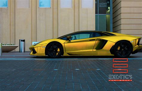 car lamborghini gold car wrap in miami graphic designers installers experts