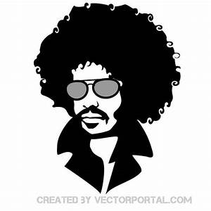 Man with afro hair vector portrait Various vectors