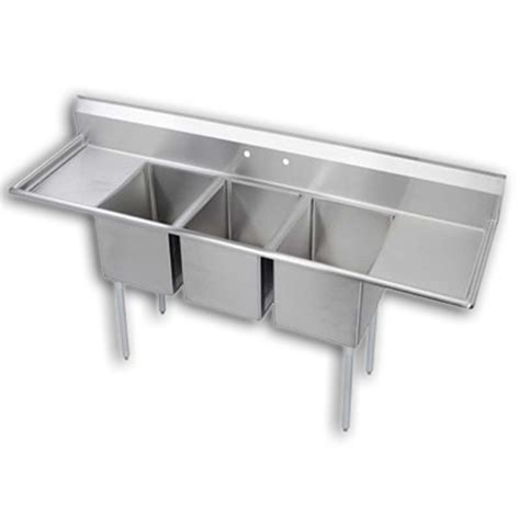 3 compartment sink dishwasher 3 compartment sink 18 quot dual drainboards