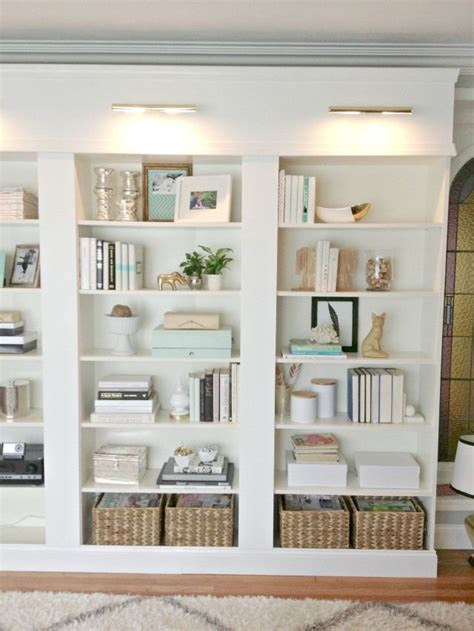 Decorating Ideas Bookshelves by Best 25 Bookcase Lighting Ideas On Shelves