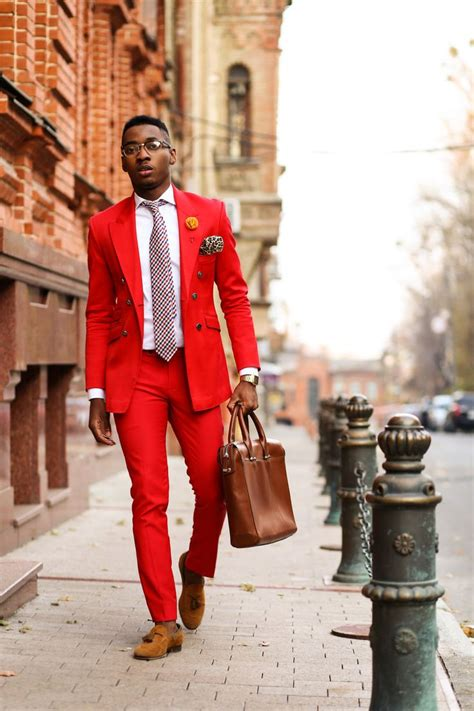 Most guys look crazy in a red suit but I like this one....Francis A Brown igclassicabrown | The ...
