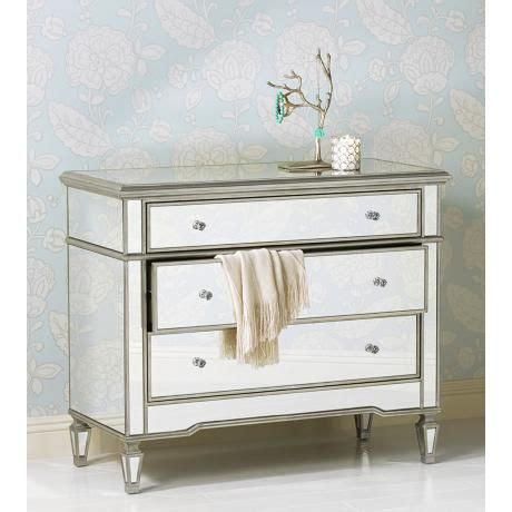 35 Inch Wide Dresser by Monaco 3 Drawer Mirrored Accent Chest 35 Quot High 42 Quot Wide