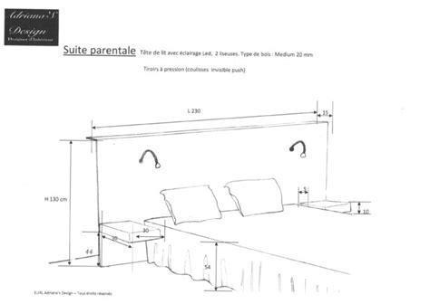 plan de maison 4 chambres avec 騁age plan tête de lit avec éclairage minimaliste création casca moderne bordeaux par déco