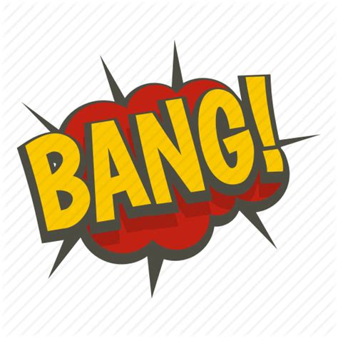 Art Bang Comic Exclamation Expression Text Word Icon