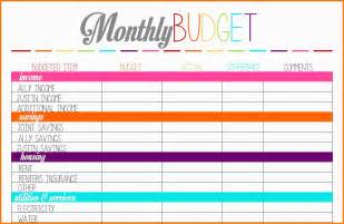 Expense Sheets Template 8 Budget Planner Worksheet Monthly Bills Template